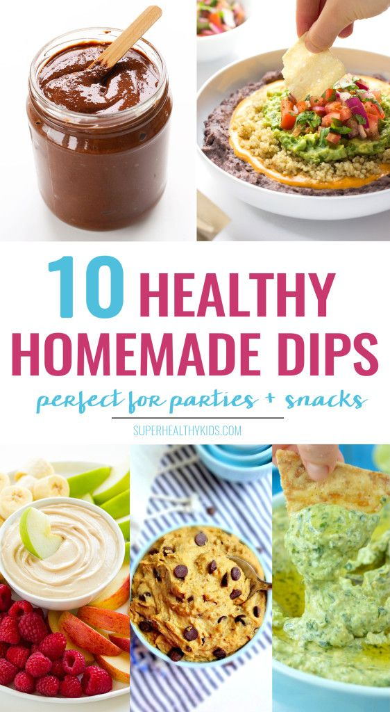 10 super healthy Homemade Dips that every kid will love! If you want your kids to eat more fruits and veggies - dips are are great way to do...