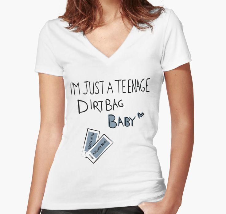 TeenageDirtbag by ERJDesign  #reminisce #wheatus #teenagedirtbag #redbubble #onlineshop #clothing #products