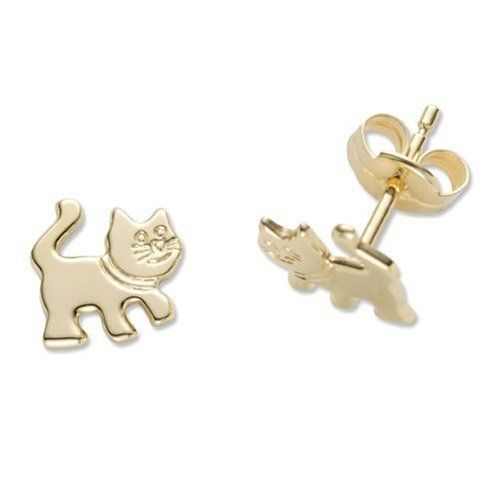 Miore Kinder-Ohrstecker Kätzchen 750 Gelbgold MK004E | Your #1 Source for Jewelry and Accessories