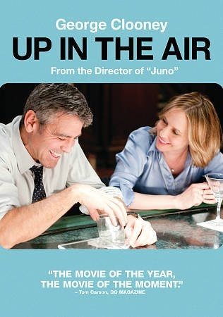 Up In The Air  With a job that has him traveling around the country firing people, Ryan Bingham leads an empty life out of a suitcase, until his company does the unexpected: ground him. Director:Jason Reitman Writers:Walter Kirn (novel), Jason Reitman(screenplay),Stars:George Clooney, Vera Farmiga, Anna Kendrick