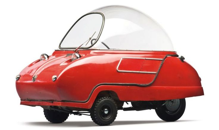 Peel Trident, introduced in 1964, powered by a 49 cc DKW moped motor, designed by Cyril Cannell