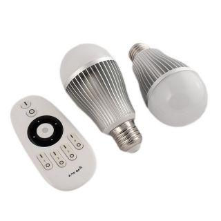 2x E-27 LED 7W Farbtemperatur steuerbar + FB