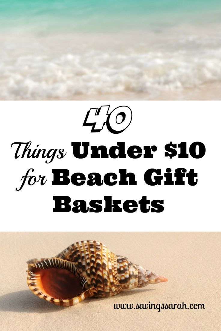 Friends or family planning an ocean getaway?  They will be delighted to receive a Beach Gift Basket filled with a selection of these 40 Things Under $10. Check out all the great basket fillers to choose among.