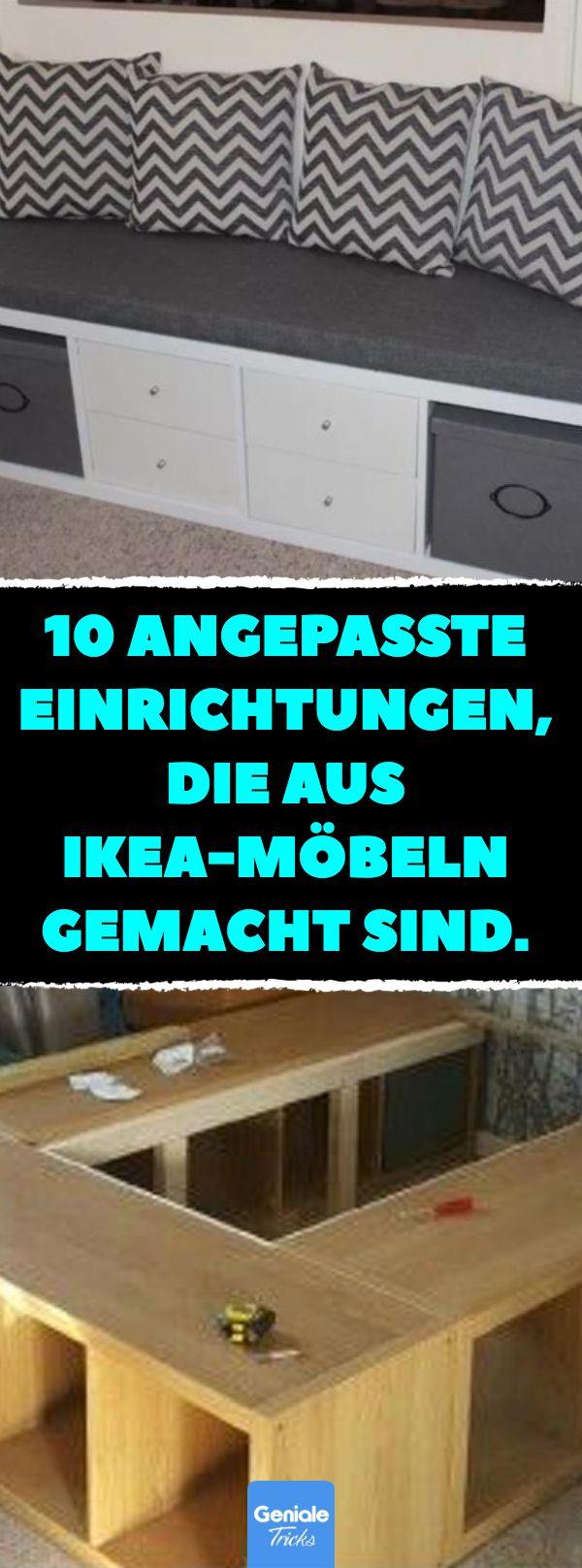 10 angepasste Einrichtungen, die aus IKEA-Möbeln gemacht sind. Individuell und viel Platz für deine Sachen! #ikea #diy #selbermachen #blogger #int