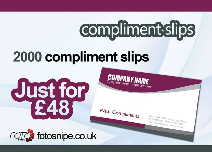 Best Compliment Slips Images On   Compliments