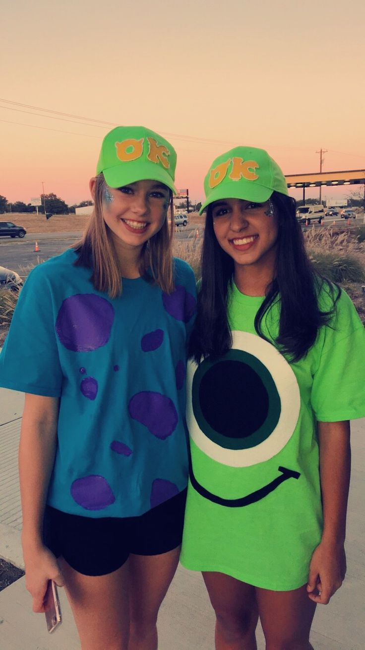DIY Mike Wazowski and Sully costume