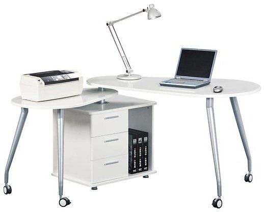modern rotating computer desk with storage