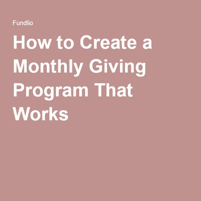 16 best monthly giving images on pinterest coding computer how to create a monthly giving program that works fandeluxe Images