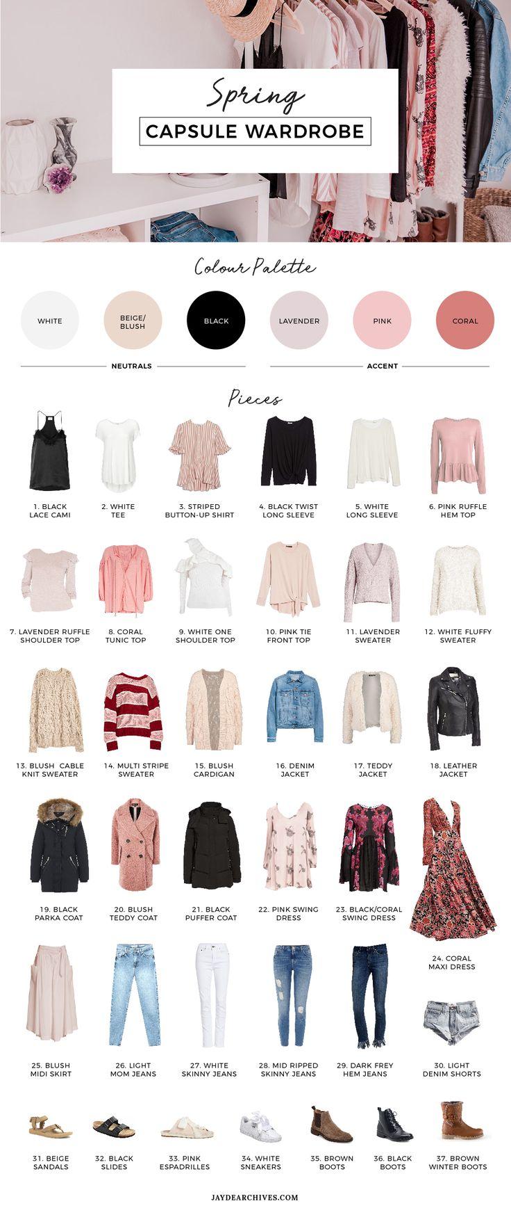 My 18′ Spring Capsule Wardrobe