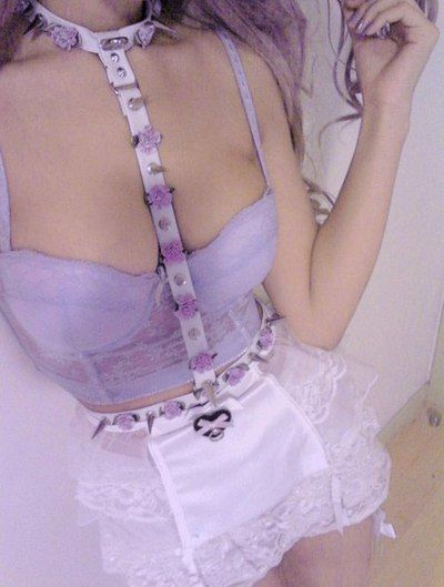 Lilac Bustier fun x Pastel Goth Slave Collar