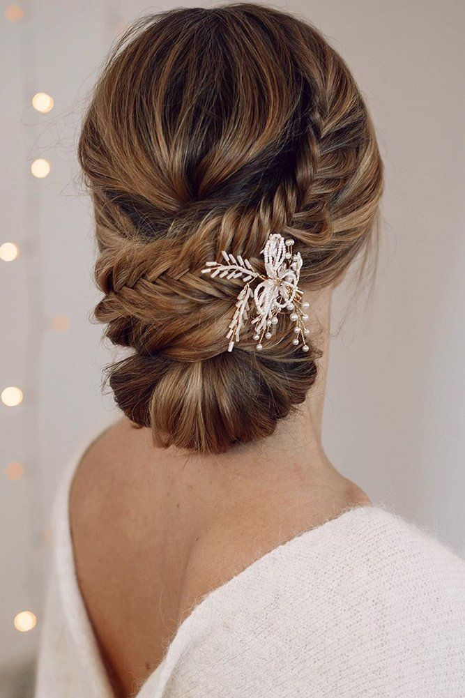 30 Pretty Cool Rustic Wedding Hairstyles Classy updo