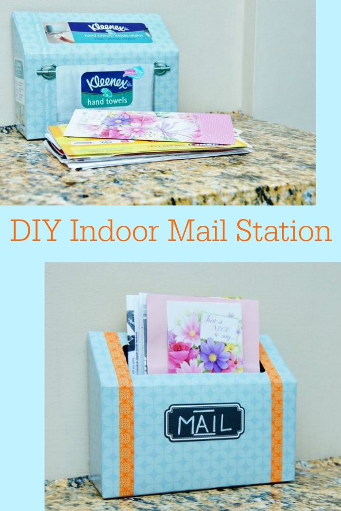 Reuse a Kleenex box and make an organizer for your mail