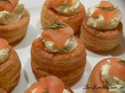 salmon and cream cheese vols-au-vents