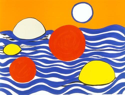 Waves, 1973 by Alexander Calder. Abstract Art. figurative