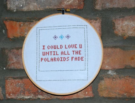 "Jenny Lewis Cross Stitch Lyrics with Hoop- ""Love U Forever"" from The Voyager"