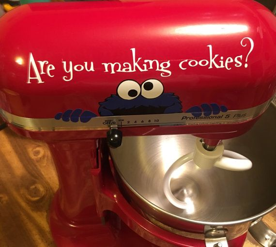 Kitchen Aid Mixer Decal, Cookie Monster,  Are You Making Cookies? Decal - Kitchenaid Decal