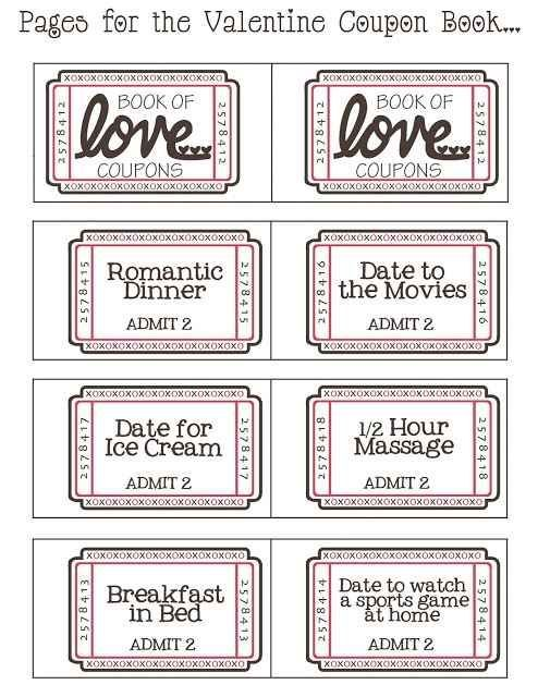 Free Printable Valentine's Day Love Coupons For Him