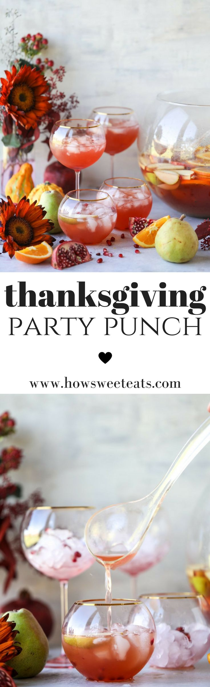 Thanksgiving Party Punch I howsweeteats.com #thanksgiving #cocktails #recipes