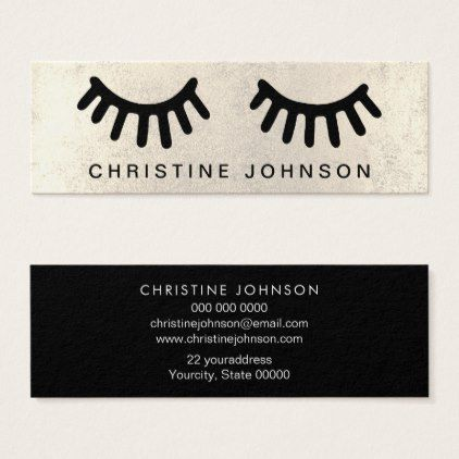 eyelashes makeup artist mini business card - makeup artist gifts style stylish unique custom stylist