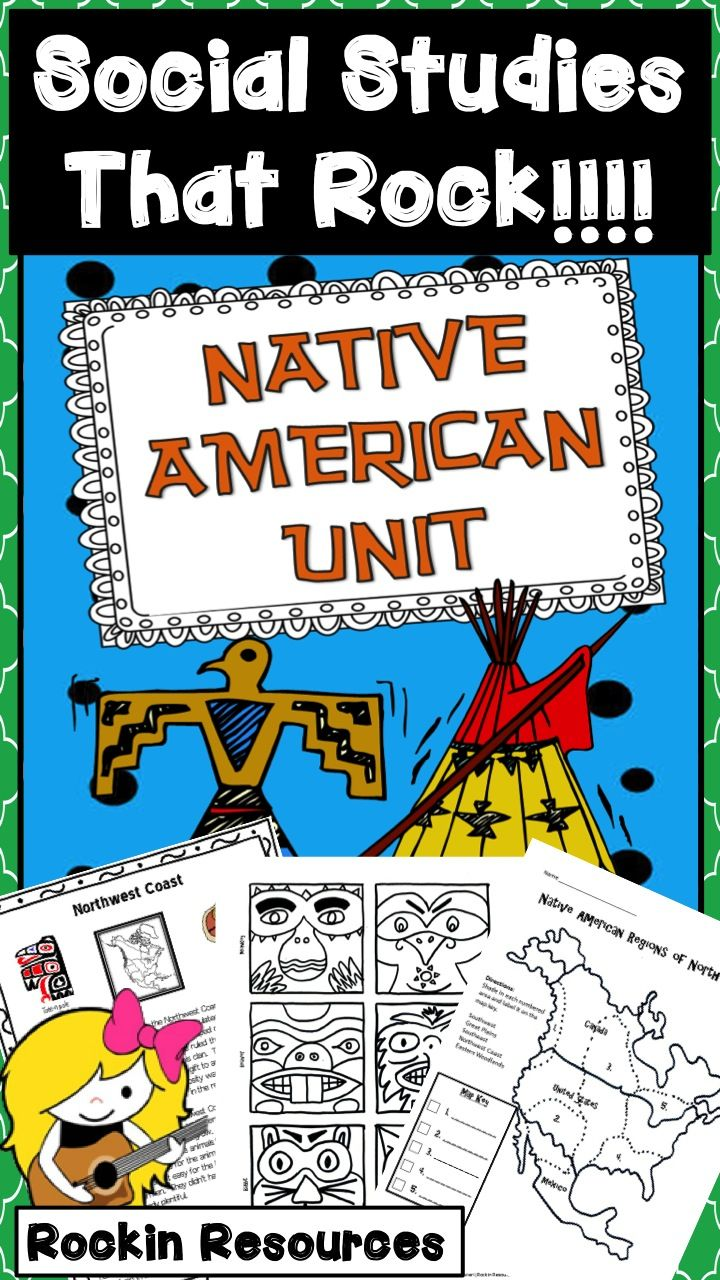 This is one of my favorite units and I updated it with even more lessons and activities! If you previously purchased, download again for free! This unit motivates students to want to learn about the Native Americans of North America (Eastern Woodlands, Great Plains, Southwest, Northwest Coast, Southeast). I have included 63 pages of lesson plans and printables.