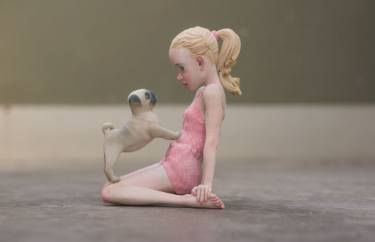"Saatchi Art Artist Eric van Straaten; Sculpture, ""Pug \ Limited Edition 1 of…"