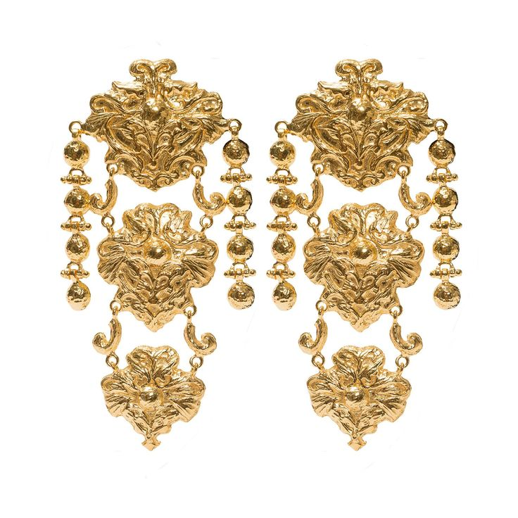 Cecile Earrings Gold