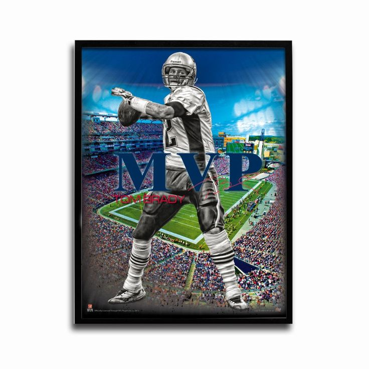 New England Patriots Tom Brady MVP 24x18 Football Poster