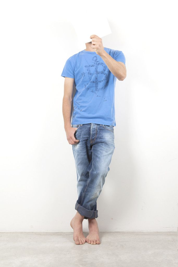 "Man t-shirt S|S ""B Anchor"""