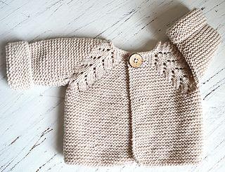 Norwegian Fir, top down cardigan by OGE Knitwear Designs