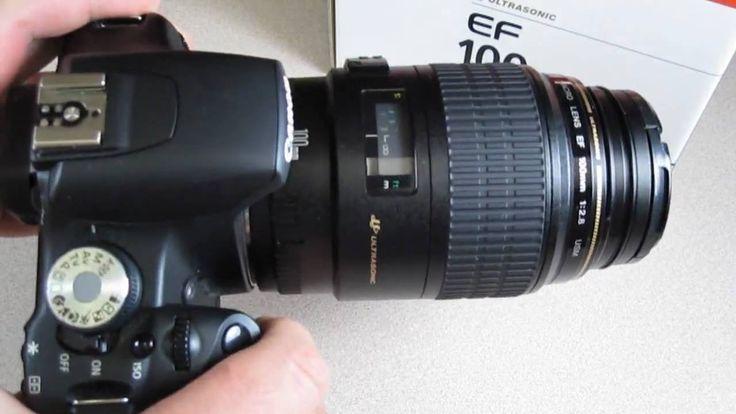 Canon EF 100mm F/2.8 Macro USM - Quick look https://www.camerasdirect.com.au/canon-100mm-macro-lens