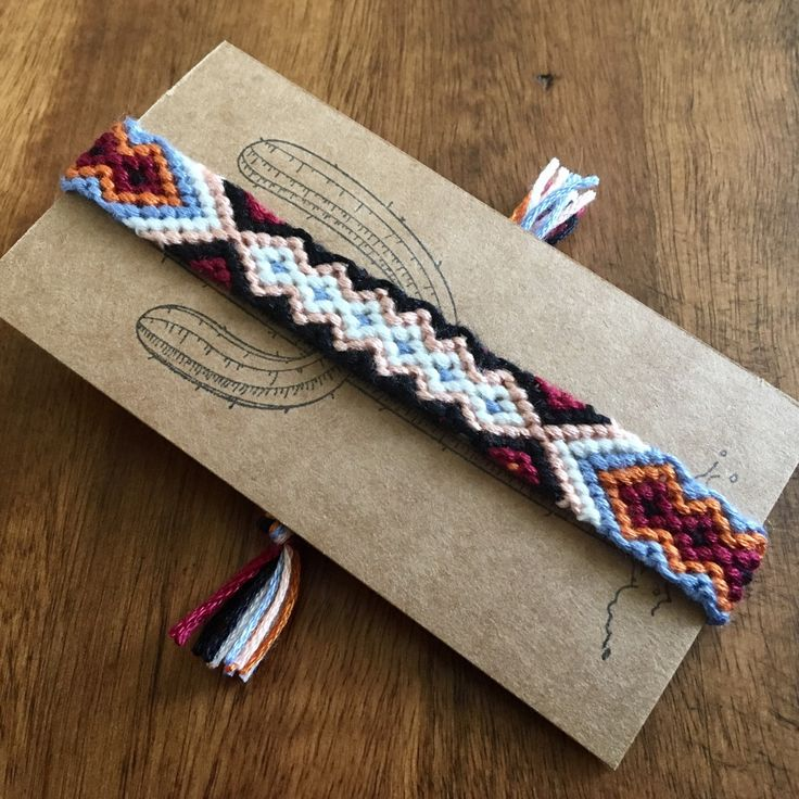 Tribal cotton friendship bracelet