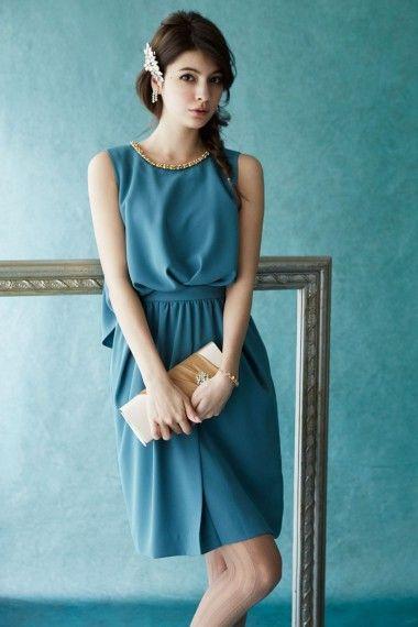 ネックビジュー・ブラウジングドレス - 「AIMER(エメ)公式通販サイト|パーティー・結婚式ドレスで人気」