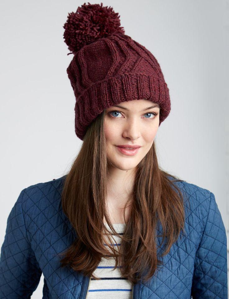Yarnspirations.com - Patons Cable Traveller Hat - Patterns | Yarnspirations | knit | Free pattern