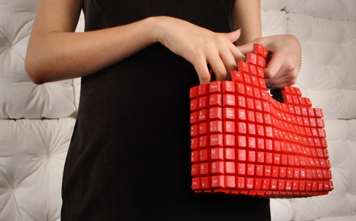 The Keybag, made from #upcycled keyboard. Design byJoão Sabino.