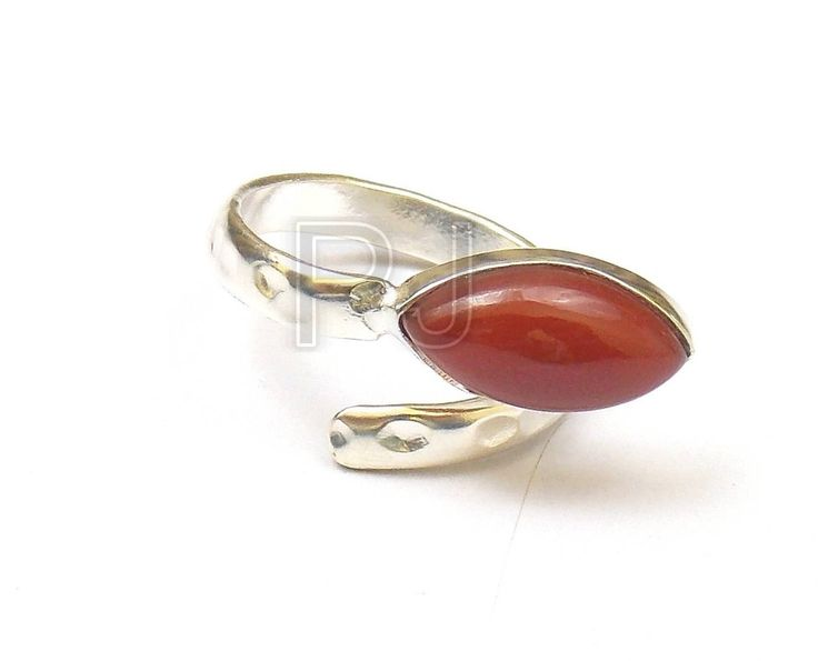 Summer Sale 50% OFF Carnelian 6 X 12 mm Marquise Silver Ring,Adjustable Ring / Fashion Ring / Stone Ring / Handmade Jewelry Ring (PJ6185APJ) by PlantofJewel on Etsy