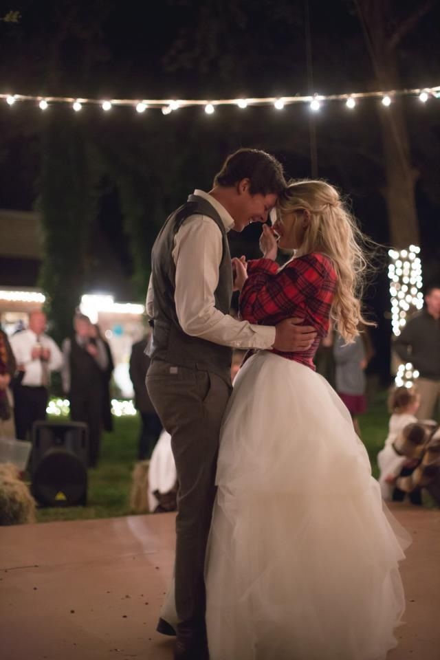 Wedding, flannel, lights //CoryHalePhotography Someone needs to stop me from thinking this is a good idea...