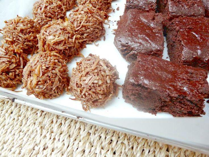 Hoy hicimos brownies de chocolate y dulces de coco!