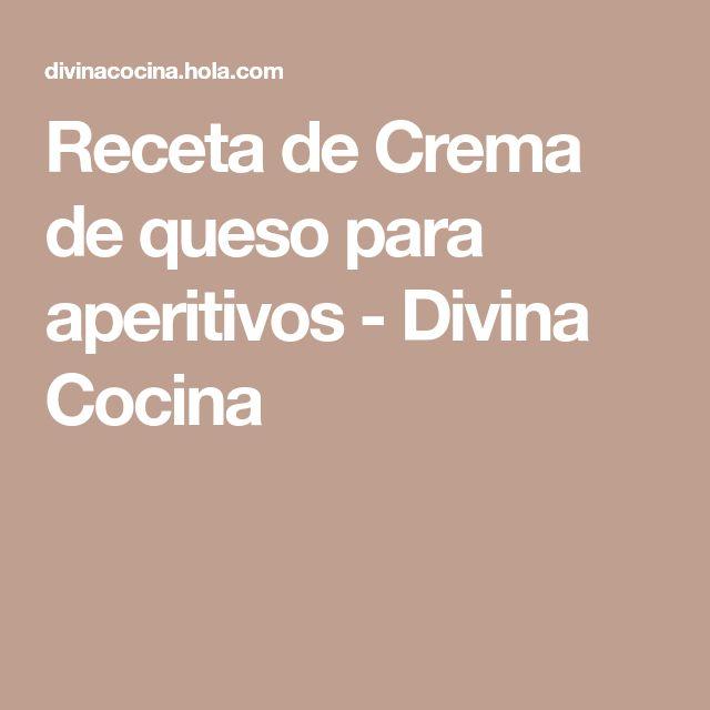 Receta de Crema de queso para aperitivos - Divina Cocina