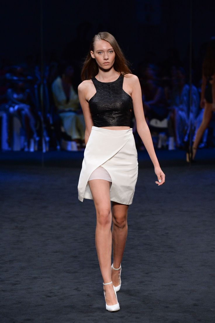 SUBOO. Coded lace tank & Crossfader cutout skirt