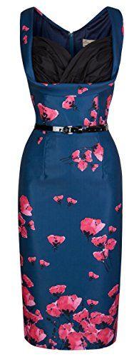 Lindy Bop 'Vanessa' Vintage 50's Stunning Poppy Print Wiggle Party Dress (5XL, Midnight Blue) Lindy Bop http://www.amazon.com/dp/B00PY36YC6/ref=cm_sw_r_pi_dp_zhf1ub0JBTJB4
