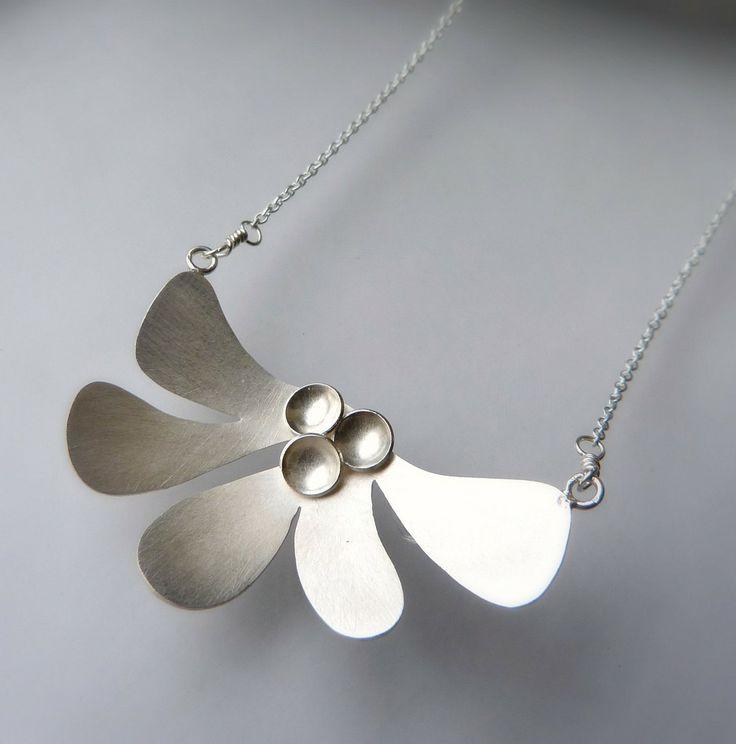 Plata esterlina collar collar de plata moderna por moiraklime, $98,00