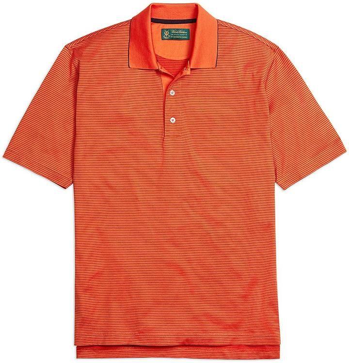St Andrews Links Thin Stripe Polo Shirt