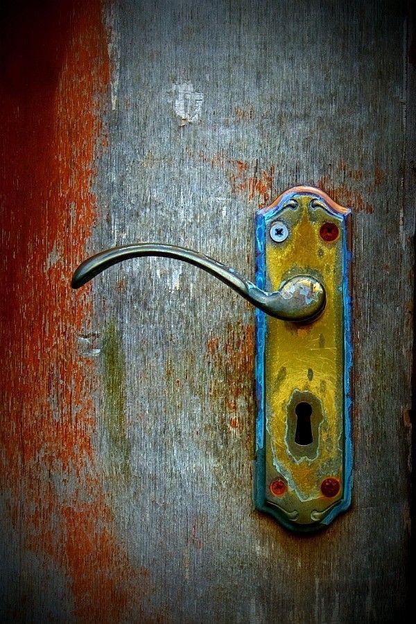 By John Stokes: The Doors, Doors Handles, Paintings Doors, Rustic Doors, Doors Knobs, Alice In Wonderland, Old Doors, Color Doors, Doors Art