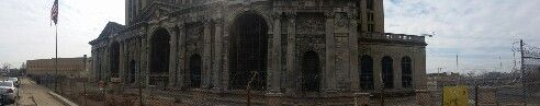 Detroit central train station i cant wait to get inside again this summer construction crews have been very busy here