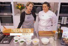 Trudi and Leslie cook Gnocchi