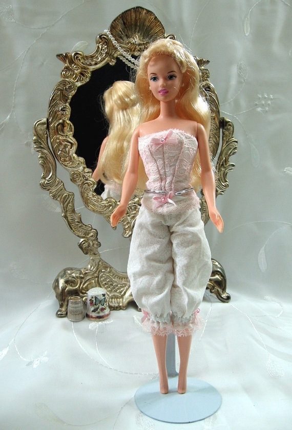 Barbie Corset And Bloomers Barbie Corsets And Etsy