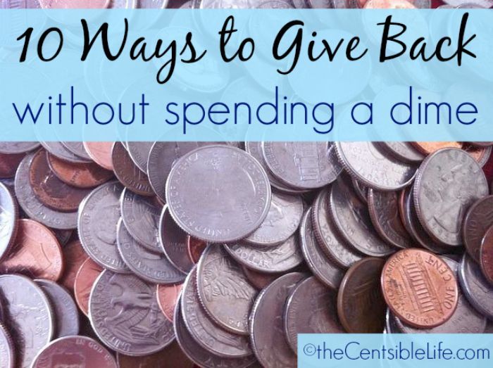 10 ways to give back without spending a dime | charity | giving back | helping others | cheap charities