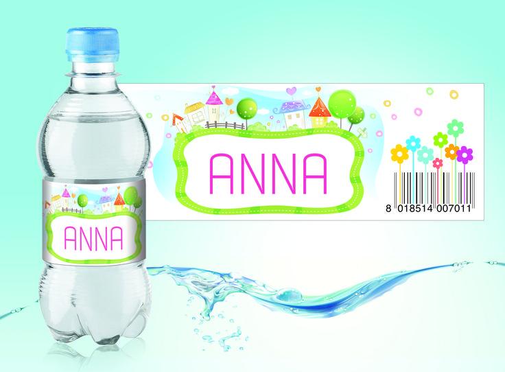 Baby girl water bottle label https://www.behance.net/gallery/24661279/Baby-girl-water-bottle-label