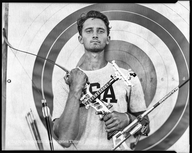 Zach Garrett, 2016 Olympics archer. PH Jay L. Clendenin. via Los Angeles Times fstoppers.com