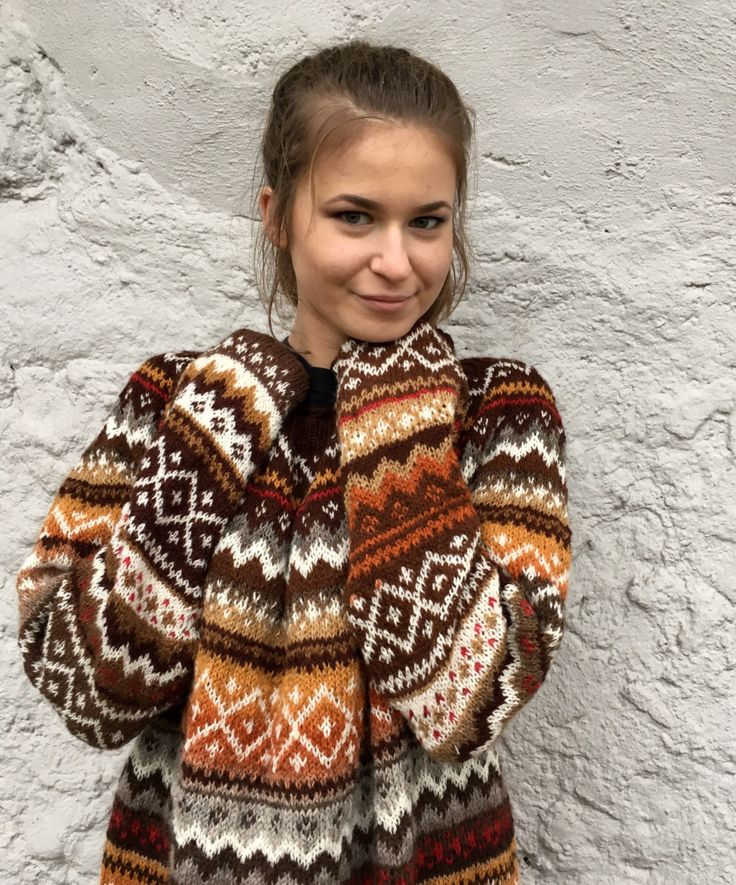 Fair Isle Sweater Dress Oversized Sweater Icelandic Sweater